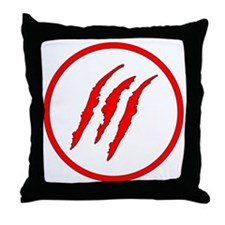 Claw Marks Throw Pillow