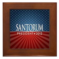 button_santorum_04 Framed Tile