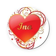 Ina-Valentines Round Coaster