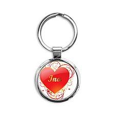 Ina-Valentines Round Keychain