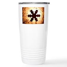 Snowflake-Glass-laptop-skin Travel Mug