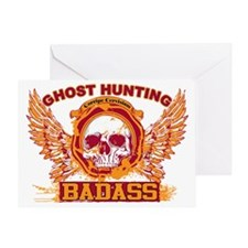 Badass_SkullWingsTshirt Greeting Card