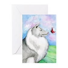 Sheltie Shetland Sheepdog Greeting Cards (Pk of 10