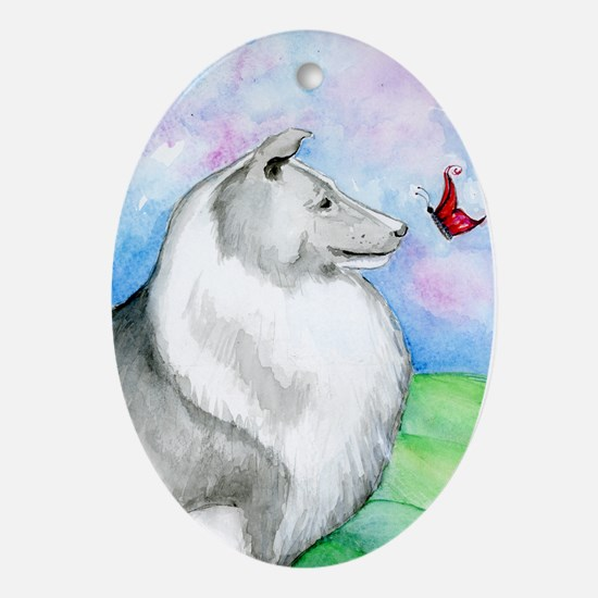Sheltie Shetland Sheepdog Ornament (Oval)