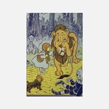 Cowardly_lion2-Dorothy-Wizard-Oz- Rectangle Magnet