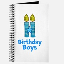 Birthday Boys Two Candles Journal