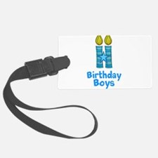 Birthday Boys Two Candles Luggage Tag