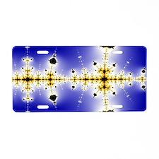 Collatz-Fractal-ed-laptop-s Aluminum License Plate