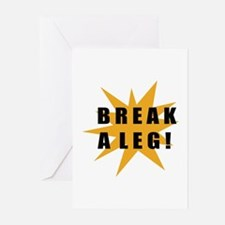 Break A Leg! / Star Greeting Cards (Pk of 10)