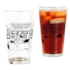 8705_woman_cartoon Drinking Glass