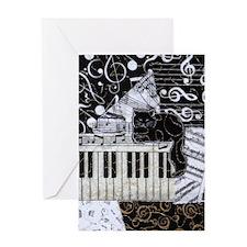 keyboard-sitting-cat-tall Greeting Card