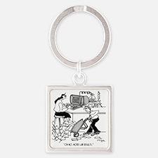 1930_lab_cartoon_EK Square Keychain