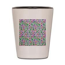 Retro Leaves Rhubarb copy Shot Glass