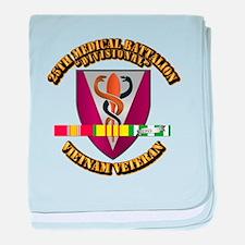 25th Medical Bn w SVC Ribbon baby blanket
