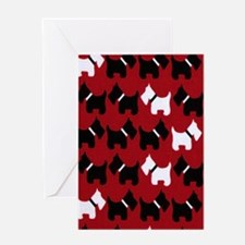 Scottie Dogs Red Greeting Card