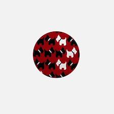 Scottie Dogs Red Mini Button