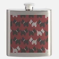 Scottie Dogs Red Flask