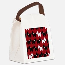 Scottie Dogs Red Canvas Lunch Bag