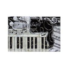 keyboard-sitting-cat-horiz Rectangle Magnet