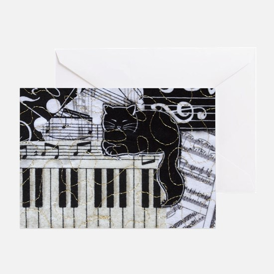 keyboard-sitting-cat-horiz Greeting Card
