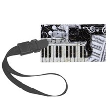 keyboard-sitting-cat-horiz Luggage Tag