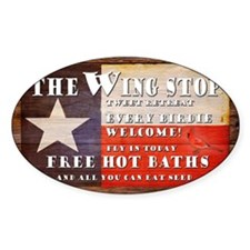 The Wing Stop yard sign Decal