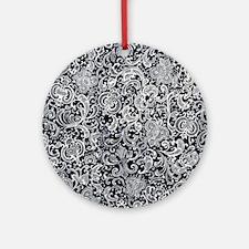Swirl Paisley Round Ornament