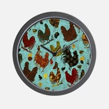 Tossed Chickens Wall Clock