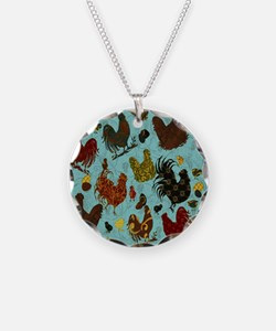 Tossed Chickens Necklace
