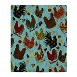 Chicken Fleece Blankets
