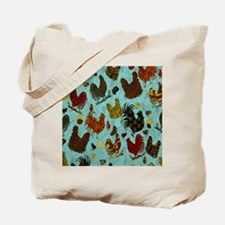 Tossed Chickens Tote Bag