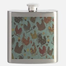 Tossed Chickens Flask