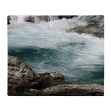 glacier stream Throw Blanket