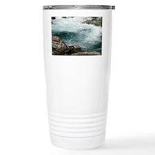 glacier stream Travel Coffee Mug