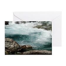 glacier stream Greeting Card