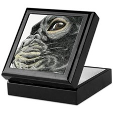 frenchie drawing Keepsake Box