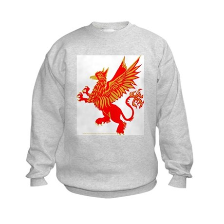 Gryphon Red Gold Kids Sweatshirt