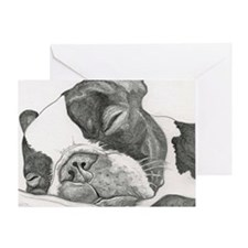 boston graphite Greeting Card