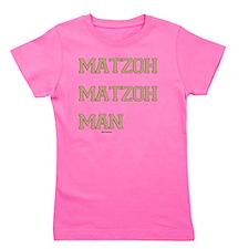 Matzoh MAtzoh Man Words flat Girl's Tee