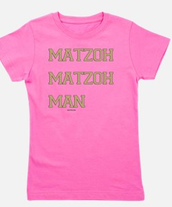 Matzoh MAtzoh Man Words flat Girl's Tee