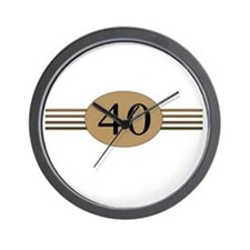 Authentic40b Wall Clock