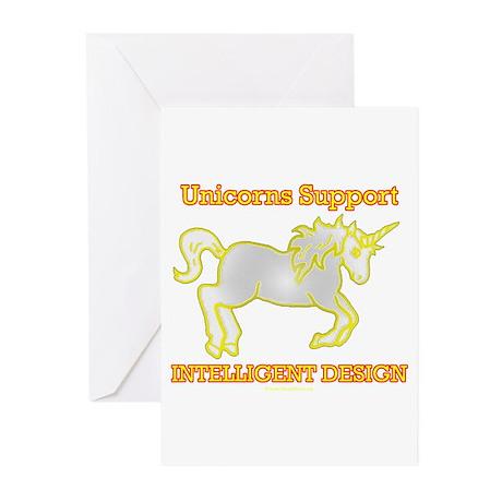 Unicorns Support intelligent Design Greeting Cards