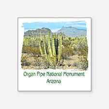 """Organ Pipe Monument Square Sticker 3"""" x 3"""""""