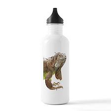 Iguana_logo_XLarge_tri Water Bottle
