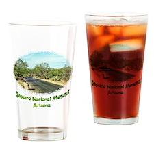 saguaro monument roadway Drinking Glass
