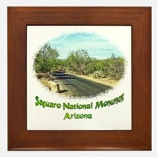 saguaro monument roadway Framed Tile