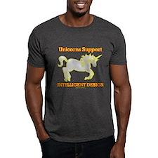 Unicorns Support intelligent Design T-Shirt
