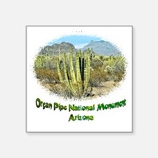"organ pipe monument Square Sticker 3"" x 3"""