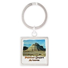 Painted Desert Octopus hill Square Keychain