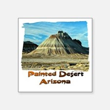 """Painted Desert Octopus hill Square Sticker 3"""" x 3"""""""